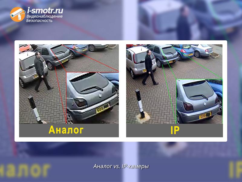 сравнение аналоговых и ip камер