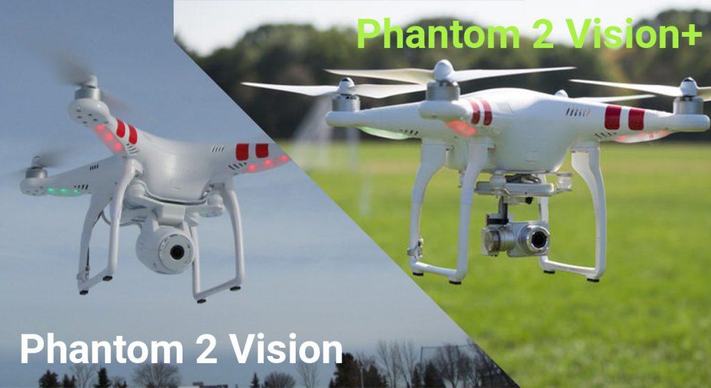 Сравнение DJI Phantom 2 Vision с Vision Plus