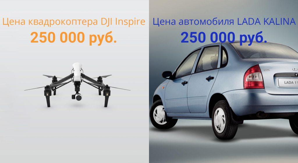 квадрокоптер dji inspire-1 по цене автомобиля