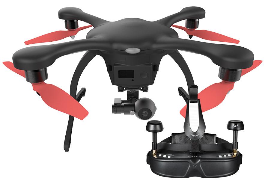 Ehang GHOSTDRONE 2.0 VR Quadcopter лучший квадрокоптер с камерой