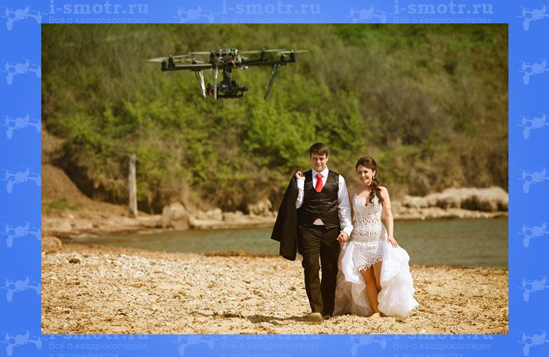 свадебная съемка с квадрокоптера