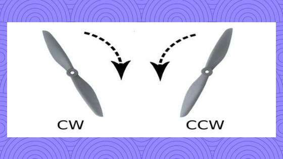 CW и CCW вращение винтов квадрокоптера